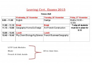 Leaving Cert exams 2015 website